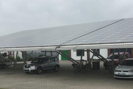 107KWp Dachanlage Niedersachsen Carport